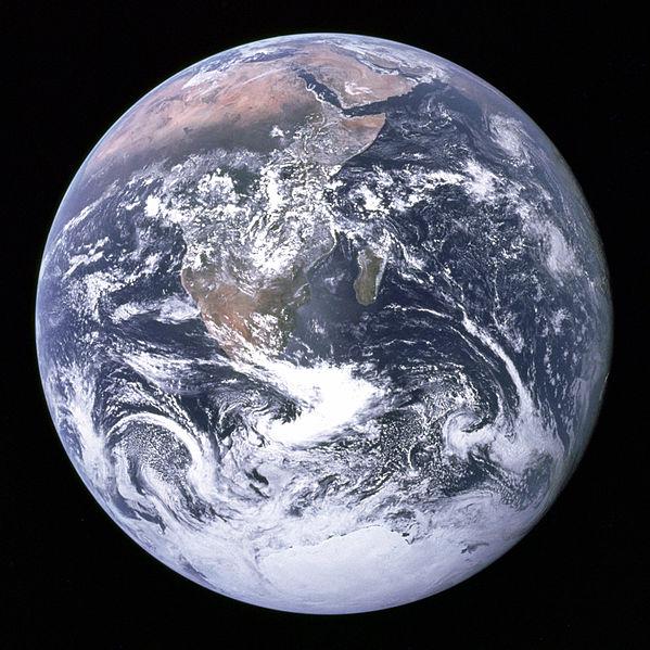 Первый снимок полностью освещённой Земной поверхности 1972г. Синий мрамор