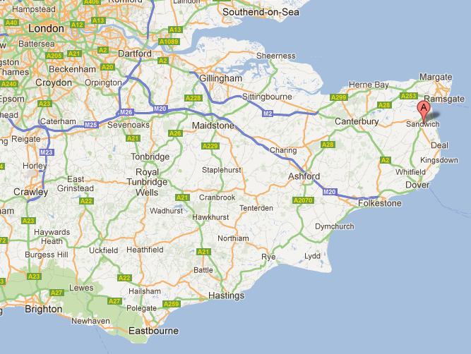 Sandwich on map
