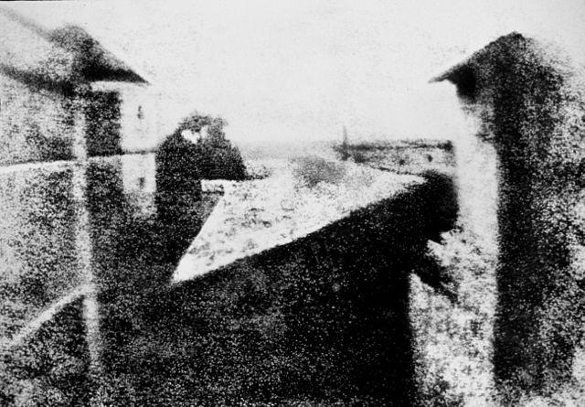 Первая фотография 1826г. Вид из окна