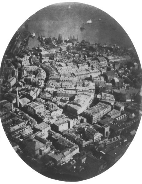Первый сохранившийся аэрофотоснимок 1860г. Бостон