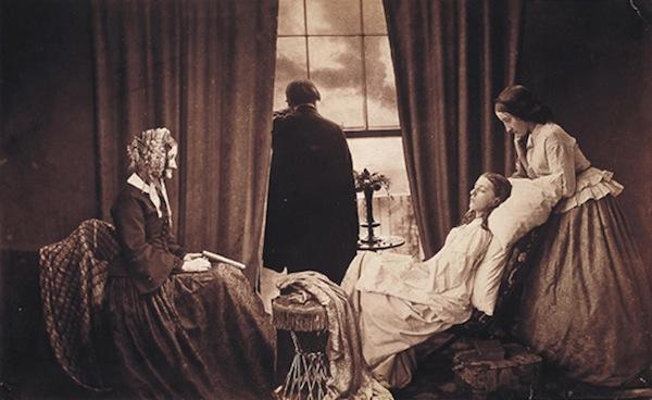 Первый фотомонтаж 1858 г. Угасание