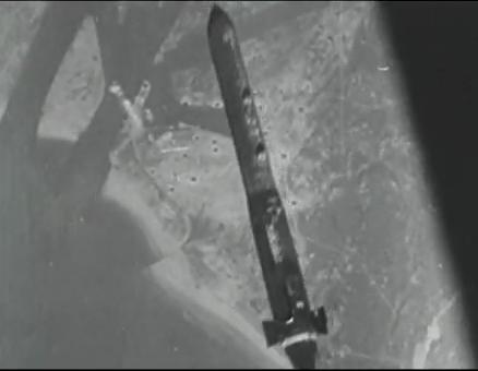 Бомба Диснея в полете над целью