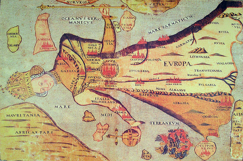 Богемия — сердце Европы. Московия —  левая пятка)