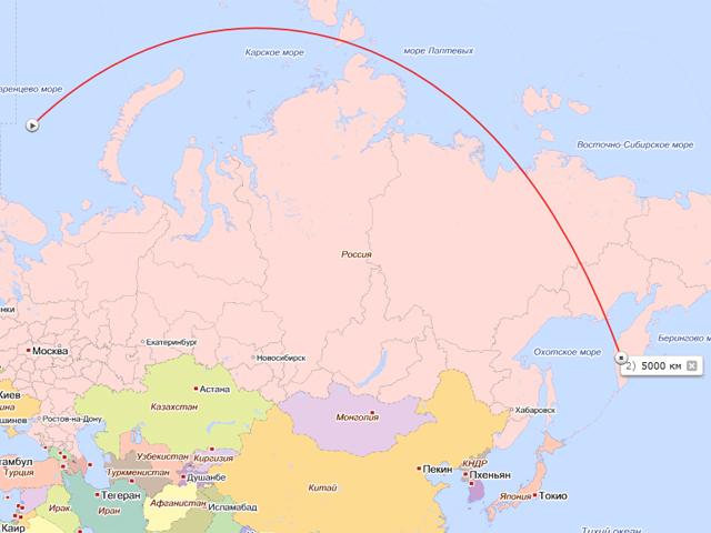 Траектория полёта почтовой ракеты