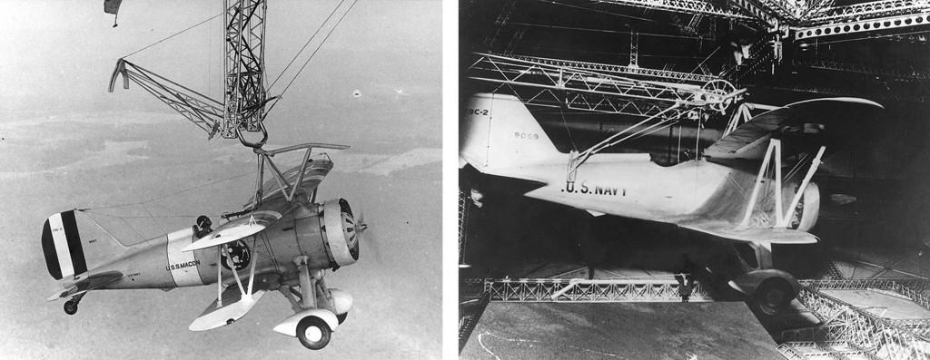 Macon ZRS-5 дирижабль airship, трапеция, для запуска и «посадки» самолета с дирижабля
