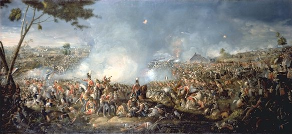 Вильям Сэдлер. «Битва при Ватерлоо», Sadler Battle of Waterloo