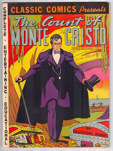 Classic Comics Граф Монте-Кристо издание 1942 года Classic Comics, The Count of Monte Cristo, published 1942