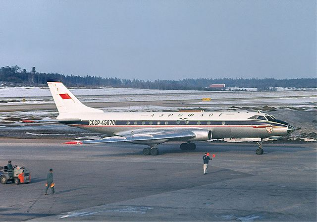 Aeroflot Tupolev Tu-124 at Arlanda April 1966