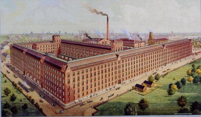 Здание телефонного завода «Эрикссон», построенное архитектором Карлом Шмидтом в 1899, 1910—1913 гг. Открытка