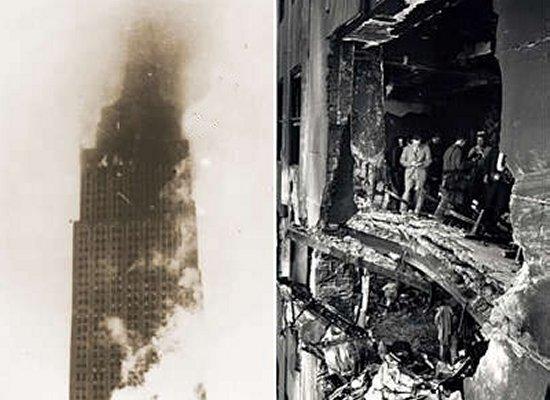 Plane Hits Empire State Building, самолёт врезался в Эмпайр-стейт-билдинг