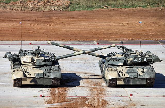 Танковый балет в исполнении Т-80У.