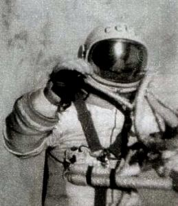 А. Леонов в скафандре «Беркут» во время выхода в открытый космос 18 марта 1965 года.