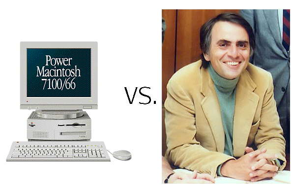 carl sagan vs appel Power Macintosh 7100