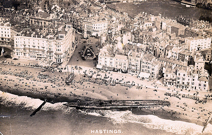 SM U-118 washed ashore at Hastings